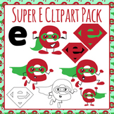Super E Phonics Clip Art Pack for Commercial Use