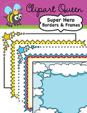 Clipart: Super Hero Borders