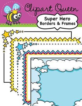 Clipart: Super Hero Borders