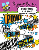 Clipart: Super Hero Kid Stuff
