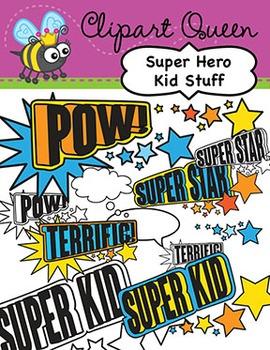 Clipart: Super Hero Kid Stuff