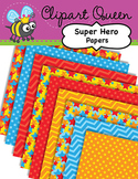 Clipart: Super Hero Papers