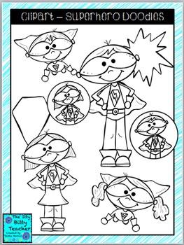 Clipart - Superhero Doodles