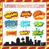 Superhero Onomatopoeia Clip Art Pack - Zap Boom Bam Wham Kapow Pow