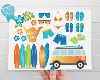 Clipart - Surfin' Safari / Surf / Beach / Summer Vacation