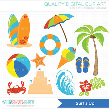 Clipart - Surf's Up (On the Beach)