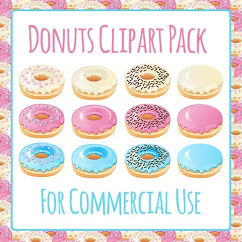 Donuts Doughnuts Clip Art Pack for Commercial Use