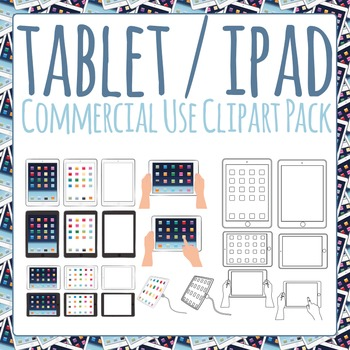 Ipad / Digital Tablet / Tablet PC Clipart Pack for Commercial Use