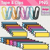 Clipart: Tape and Paper Clips