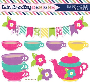 Clipart - Tea Party Graphics