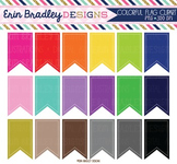 Clipart - Text Flags Digital Clip Art Frame Graphics in Rainbow Colors