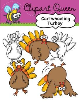 Clipart: Thanksgiving Cartwheel Turkey