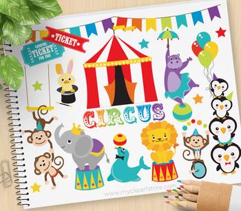Clipart - Animal Circus Fair / Carnival