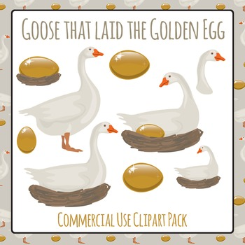 The Goose that Laid the Golden Egg - Geese Commercial Use Clip Art Pack