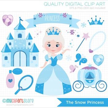 Clipart - The Snow Princess