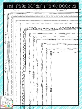Clipart - Thin Page Border Frame Doodles - 25 images