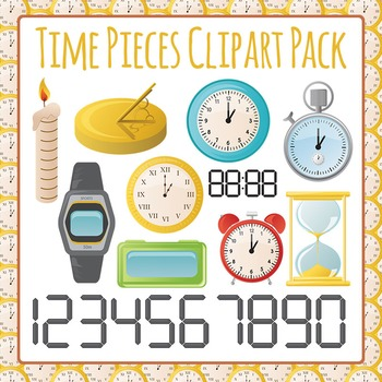 Clocks and Time Pieces Clip Art Pack for Commercial Use