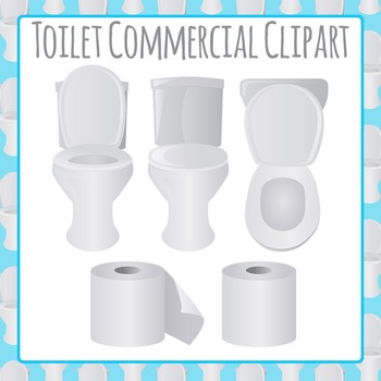 Toilets and Toilet Paper Clip Art Pack for Commercial Use