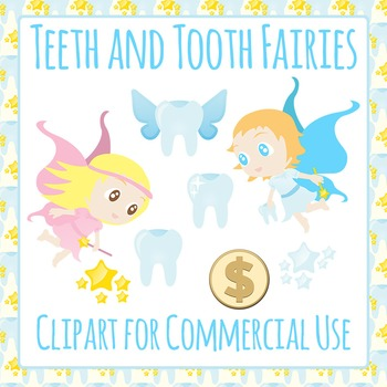Tooth Fairy Clip Art Pack For Commercial Use