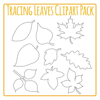 Tracing Fall Leaf Shapes for Fine Motor Control or Leaves