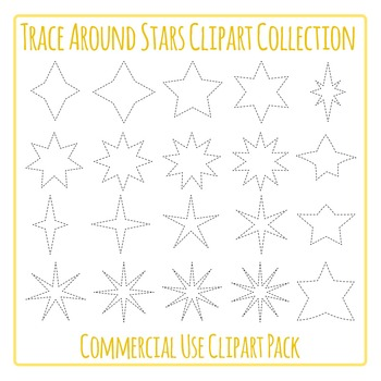 Tracing Stars for Fine Motor Control or Cutting Stars