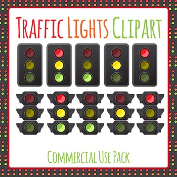 Traffic Lights Clip Art Pack for Commercial Use