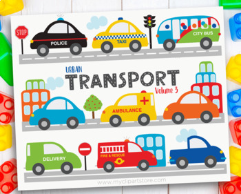 Clipart - Transportation - Cars and Trucks / City Vehicles