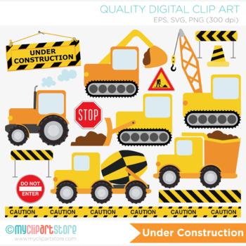 Clipart - Transportation - Construction Vehicles (Yellow)