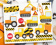 Clipart - Transportation - Construction Vehicles (Yellow)