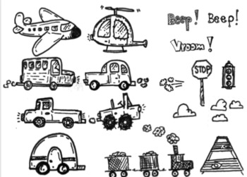 Clipart, Transportation, Images, Air & Land, Printables, Labels, Visuals, Bus