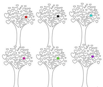 Clipart Tree Heart Set