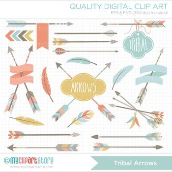 Clipart - Tribal Arrows & Frames (1) / Aztec / Navajo / American Indian