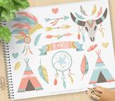 Clipart - Tribal Boho Elements (1) / Aztec / Navajo / American Indian