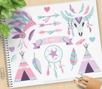Clipart - Tribal Boho Elements (2) / Aztec / Navajo / American Indian