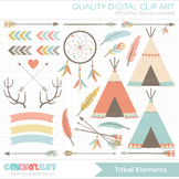Clipart - Tribal Elements (1) / Aztek / Navaho / American Indian