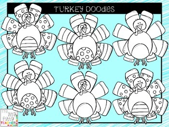 Clipart - Turkey Doodles