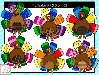 Clipart - Turkey Doodles