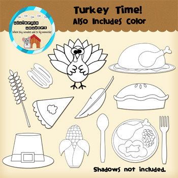 Clipart: Turkey Time - Thanksgiving