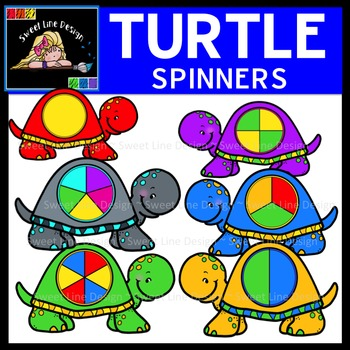 Clipart: Turtle Spinners, Arrows, and Gameboard {Sweet Lin