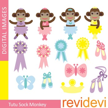 Clipart Tutu Sock Monkey