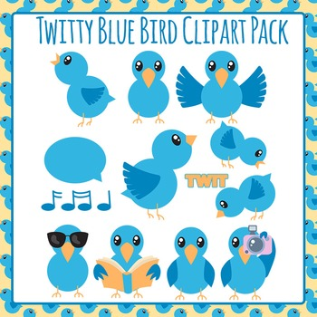 Blue Bird Clip Art Pack for Commercial Use