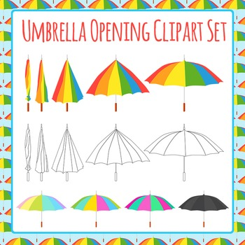 Umbrella Opening Sequence Clip Art Pack for Commercial Use
