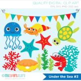 Clipart - Under the sea (#3), Jelly Fish, Starfish, Surf, Ocean / Deep Sea