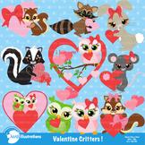 Clipart, Valentine Cliparts, Critters clip art, commercial use, vectors, AMB-337