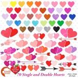 Valentine Clipart, Hearts MEGA Pack Clipart, {Best Teacher Tools}, AMB-1146
