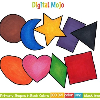 Primary Shapes in Basic Colors