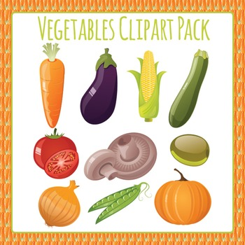 Vegetables Clip Art Pack for Commercial Use
