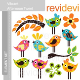 Bird clip art: Cute polkadot bird clipart, Vibrant Afterno