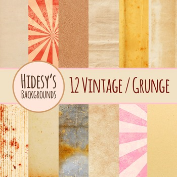 Vintage / Grunge Backgrounds Clip Art Pack for Commercial Use