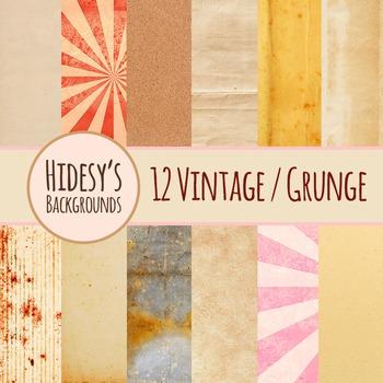 Vintage / Grunge Backgrounds Clip Art Pack for Commercial Use